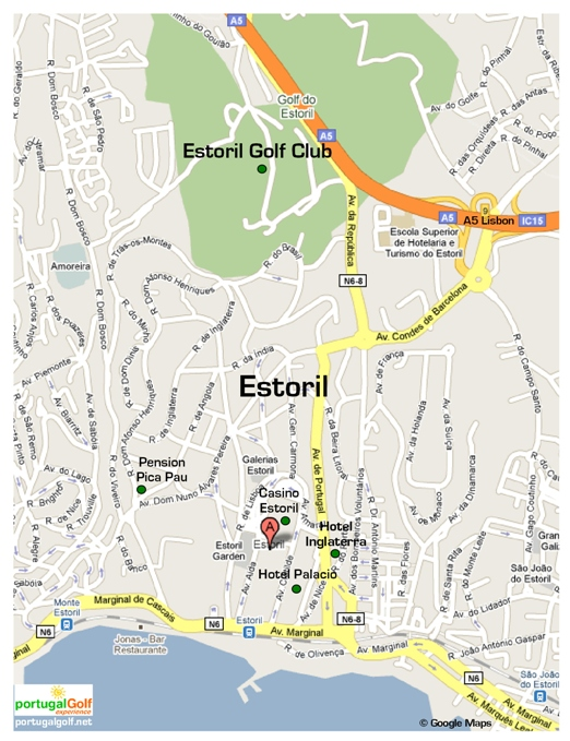 Map of Estoril